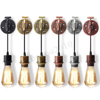 E27 Retro Vintage Loft Wall Light Sconce Lamp Bulb Socket Holder Fixture  6