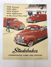 1940's Studebaker Commercial Cars & Trucks Pamplet Catalog