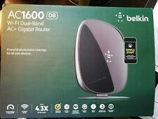 Belkin AC1600 Wi-Fi Dual-Band AC+ Gigabit Wireless Router 1600Mbps Speed, NEW