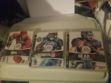 NHL 08 Madden 08 NCAA Football 08 PS3 Game Bundle