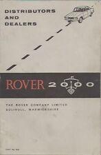 ROVER P6 2000 ORIGINAL 1964 DISTRIBUTORS & DEALERS BOOKLET