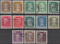 Stamp Germany Reich Mi 385-97 Sc 351-62 1926 Famous German Goethe Bach Kant Used