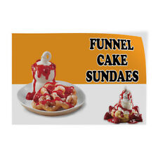 Decal Stickers Funnel Cake Sundaes Advertising Printing Vinyl Store Sign Label