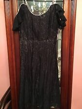 Intimately Free People Black Lace With Pink Slip Dress Fit And Flare Size Small