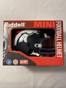 Riddell NFL Denver Broncos Mini Football Helmet Officially Licensed VTG 1996 NEW