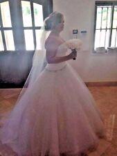 RONALD JOYCE, DESIGNER, WEDDING DRESS, IVORY, SIZE 14, IMMACULATE, EXQUISITE
