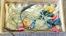 Set of C-6 Miniature Christmas Lights. Works, plus four replacements. Modified