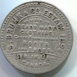 1894 S. Brunk & Co. Dealer in Clothing - Berlin, Ontario, Canada - Lot # EC 5270