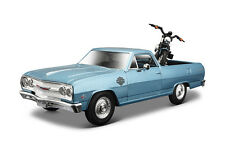 1965 El Camino/Harley Davidson+2007 XL 1200N Nightster +1:24 scale display case