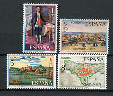 Spain Stamps - 1972 Spain In The New World (1st Series) Set Of 4 Mint Condition