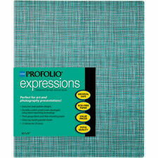 """Itoya ProFolio Expressions Presentation Book 8.5 x 11"""" Aqua Squares EP-12811-AQS"""