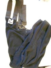 Military Polartec 200 Classic Overall Pants Lrg--Short Reg. Black Fleece. USA!