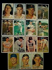 Detroit Tigers, 1957 Topps, Lot Of 15, Lesser Condition, Fronts Great, WOB