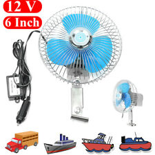 "6"" 12V Electric Oscillating Auto Cooling Air Fan For Vehicle Truck Car Boat"