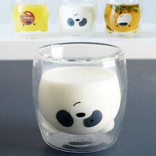 We Bare Bears Double Walled Glass Mugs Cute Milk Cups Tea Coffee Mugs Cups Gift