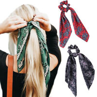Women Girls Hair Scrunchies Ponytail Holder Bows Elastic Hair Ties Ring Rope