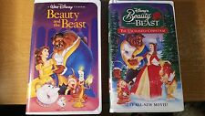Walt Disney Beauty and the Beast and Enchanted Christmas 2 movies VHS EUC