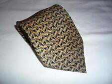 KR1634 Walbusch Krawatte 100% Seide Schwarz Blau Gold Creme Floral 150cm Neuwert