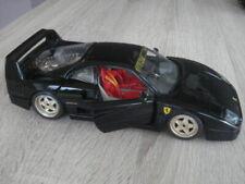 Modellauto /  Ferrari F40 Schwarz 1:18 / Bburago unbespielt  goldfarbene Felgen