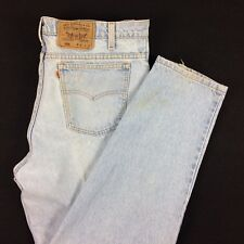 VTG 80s USA Made LEVI's 550 Orange Tab Tapered Leg Dad Jeans 38 x 31 Light Wash