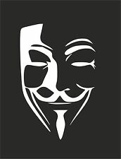 V for VENDETTA 1 Anonymous Mask Guy Guido Fawkes decal sticker vinyl wall art
