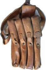 East European army surplus leather ammo magazine bandolier pouch