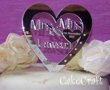 Onorevole speculari & Mrs, onorevole & l'onorevole PERSONALIZZATO WEDDING CAKE TOPPER Swarovski Crystal