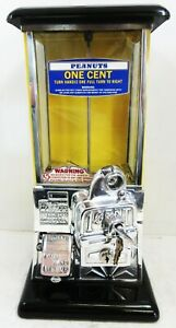 Masters Yellow / Black Penny Operated Candy/Peanut Machine circa 1930's