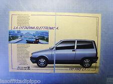QUATTROR991-PUBBLICITA'/ADVERTISING-1991- AUTOBIANCHI Y10 FIRE LX i.e. -2 fogli