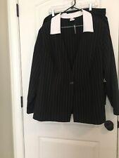 Studio 1940 Women's PinStripped Skirt Suit Sz 26W MultiColor