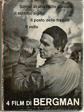 BERGMAN Ingmar. Quattro film. Einaudi, Saggi, 1961. Buone condizioni