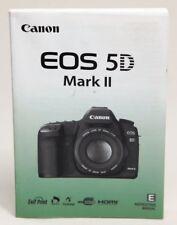 Canon Eos 5D Mark Ii Digital Slr Camera Owners Instruction Manual -Dslr