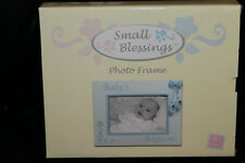 Russ Berrie Small Blessings Baby's Baptism Blue Picture Frame