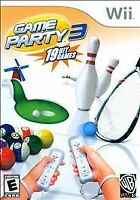 Game Party 3 (Nintendo Wii, 2009) Complete, Tested