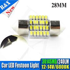 1x White C5W 28mm 3014 24 SMD LED Festoon Number Plate Upgrade Bulb 6000K DC12V