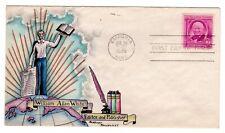 #960 William Allen White Dorothy Knapp Hand Painted Cachet 1948 Fdc - Emporia Ks