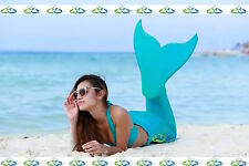 THE2TAILS™ Adult Miami Teal Swimmable Mermaid Tail Affordable with Fin