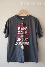 Keep Calm and Shoot Zombies Gildan Ultra Cotton T Shirt Size Large