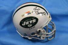 Joe Namath PSA DNA Coa Autograph New York Jets Mini Helmet Signed