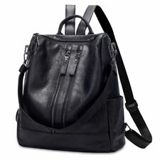 Women PU Leather Backpacks For Girls Student School Bag Large Casual Travel Bags