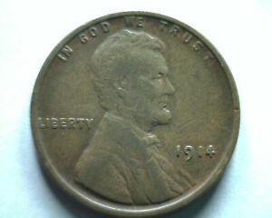 1914 LINCOLN CENT PENNY EXTRA FINE XF EXTREMELY FINE EF NICE ORIGINAL COIN