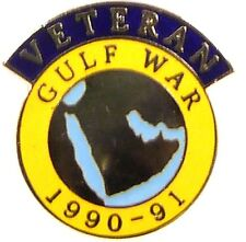 GULF WAR 1990/91 OP GRANBY SCROLL VERSION OFFICIAL VETERANS LAPEL PIN BADGE