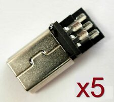 5x Connecteur à souder Mini USB type B Male / 5x Mini USB Male connector to weld
