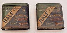New listing Two (2) Half & Half Buckingham Bright Cut Plug Smoking Tobacco Tins