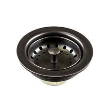 Luxier 3-1/2 in. Drop-In Kitchen/Bar Sink Basket Strainer Oil Rubbed Bronze