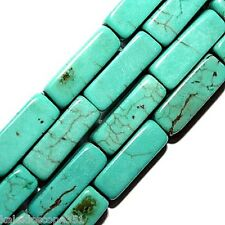 CHINESE TURQUOISE RECTANGLE BEADS JEWELRY CRAFTS 4X13MM STONE BEAD STRANDS SC23