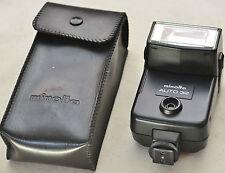 (PRL)  FLASH MINOLTA AUTO 32 SHOE MOUNT KONICA TILT HEAD BOUNCE FOR 35 mm CAMERA