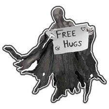 "Free Hugs car bumper sticker decal 4"" x 4"""