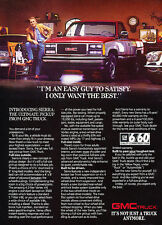 1988 GMC Sierra Pickup Truck - red -  Classic Vintage Advertisement Ad D07