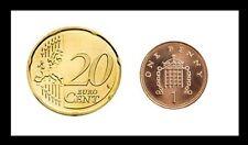 MAGIC COIN UNIQUE EURO/UK [VANISHING PENNY] 1p/20cent